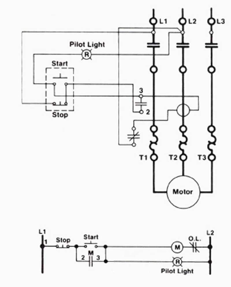 Start stop station wiring diagram get free image about for Motor control circuit diagram pdf