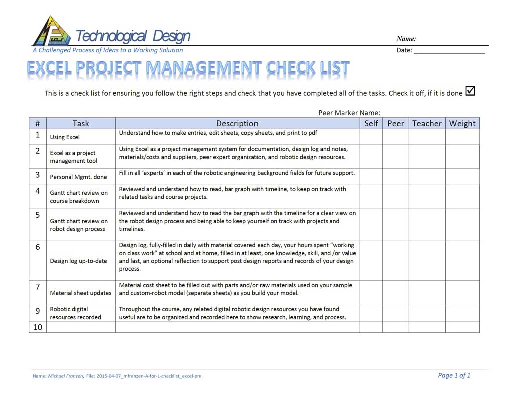 reflection paper on project management